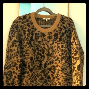 Madewell Oversized Leopard Sweater